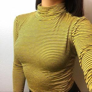 Mustard yellow striped shirt